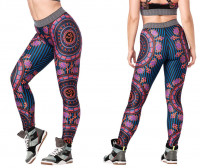 Zumba Mix It Up Long Leggings Fuchsia